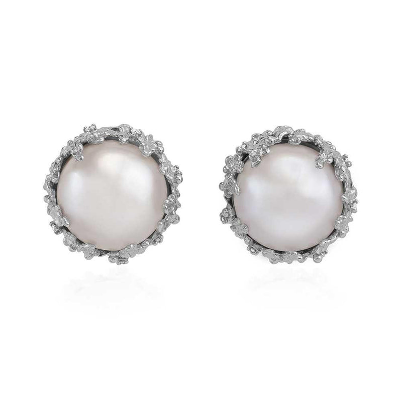 Michael Aram Ocean Earrings with Pearls and Diamonds