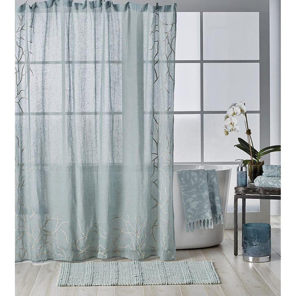 Michael Aram Ocean Reef Shower Curtain - Seafoam