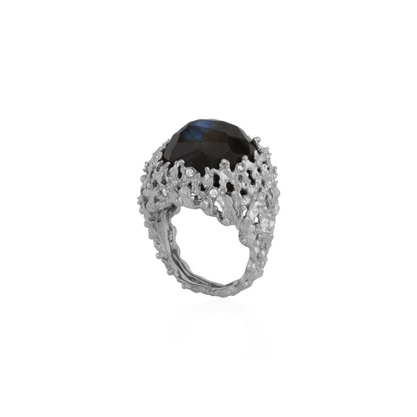Michael Aram Ocean Ring with a Labradorite and Diamonds
