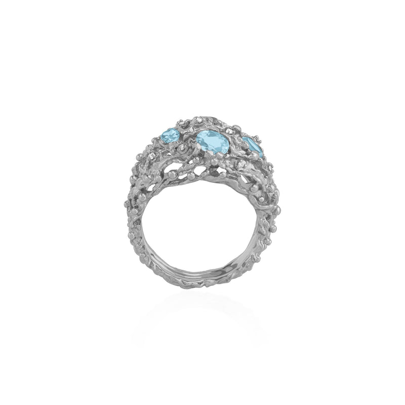 Michael Aram Ocean Ring with Blue Topaz and Diamonds