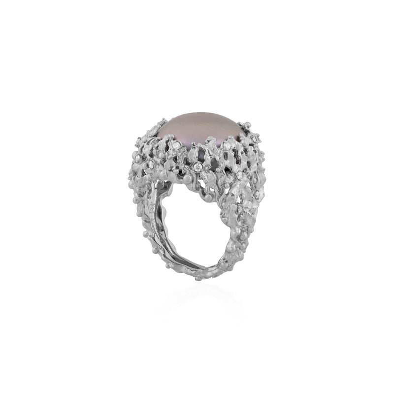 Michael Aram Ocean Ring with Pearl and Diamonds