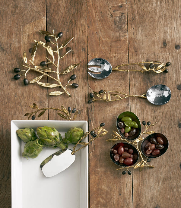 Michael Aram Olive Branch Serving Set