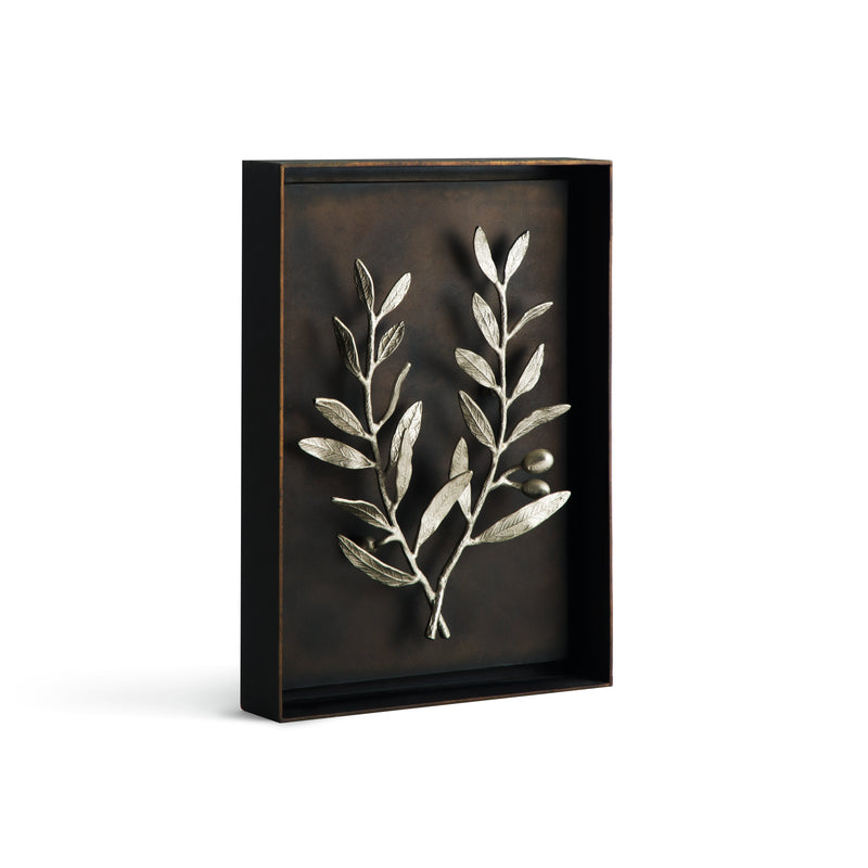 Michael Aram Olive Branch Shadow Box - Antique Nickel