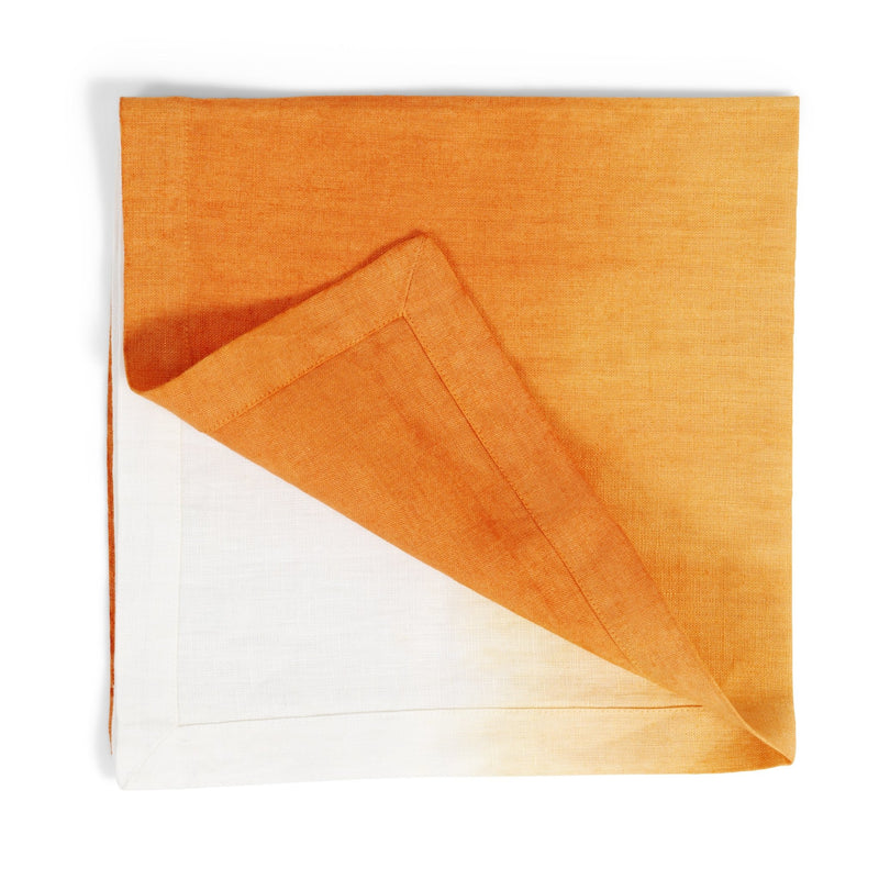 Michael Aram Orange Dip Dye Dinner Napkin