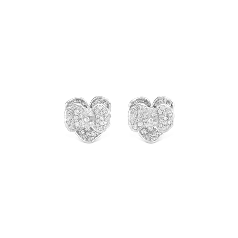Michael Aram Orchid 11mm Earring with Diamonds