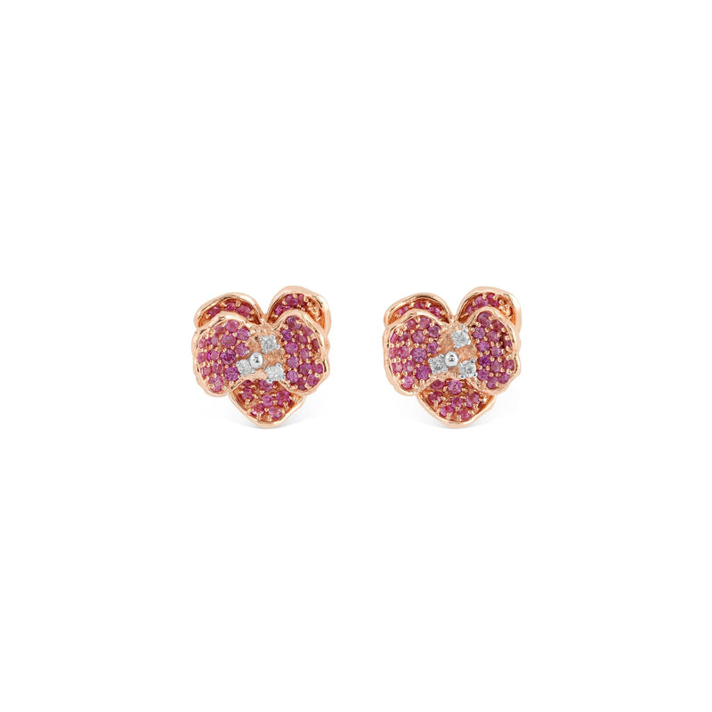 Michael Aram Orchid 11mm Earrings with Pink Sapphires