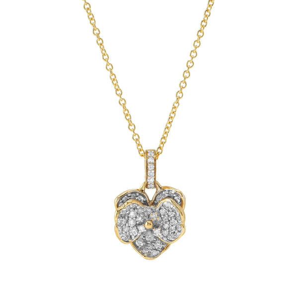 Michael Aram Orchid 11mm Necklace with Diamonds