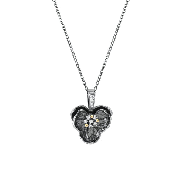 Michael Aram Orchid 15mm Necklace with Diamonds