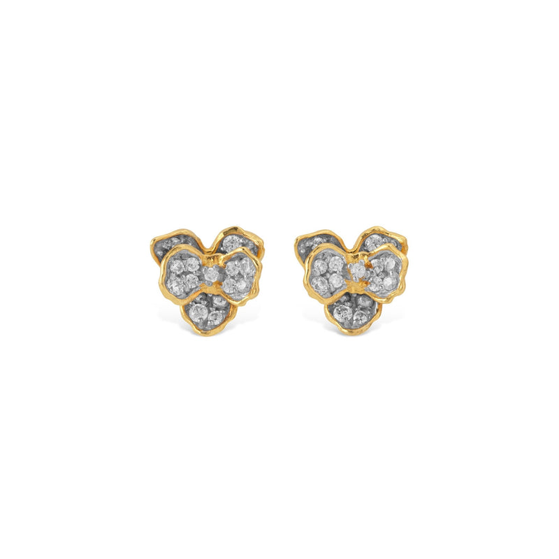 Michael Aram Orchid 7mm Earring with Diamonds