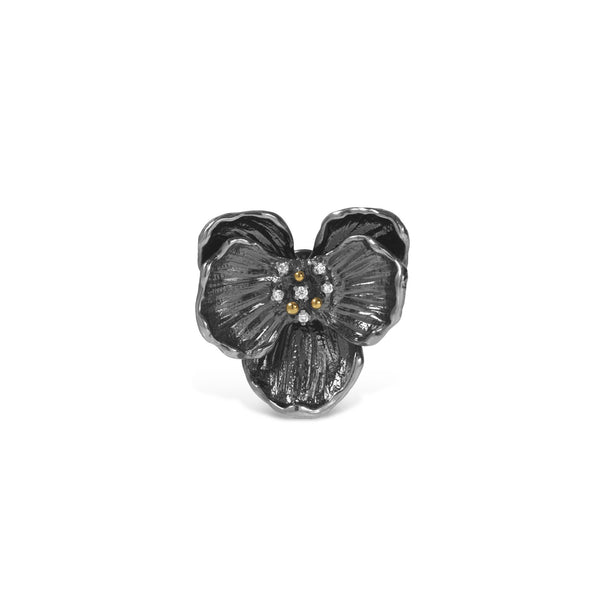 Michael Aram Orchid Brooch with Diamonds