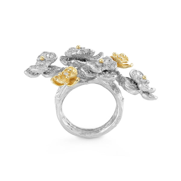 Michael Aram Orchid Cluster Ring with Diamonds
