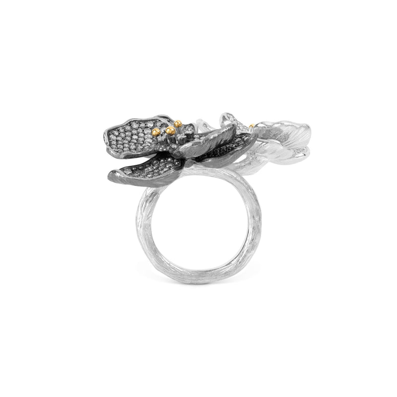 Michael Aram Orchid Double Ring with Diamonds