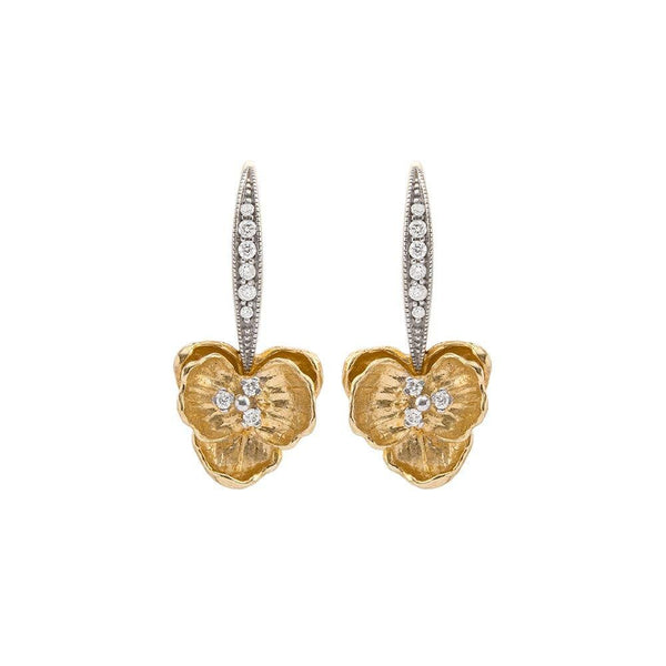 Michael Aram Orchid Earrings with Diamonds