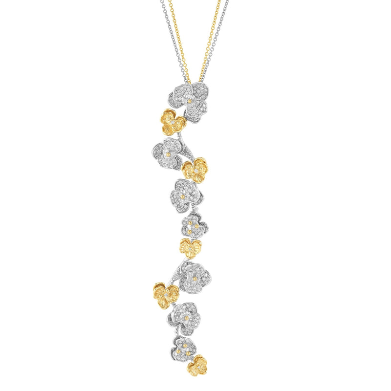 Michael Aram Orchid Pendant Necklace with Diamonds