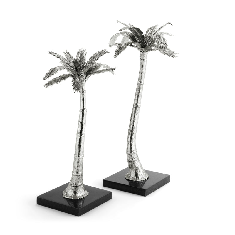 Michael Aram Palm Candleholders Nickelplate