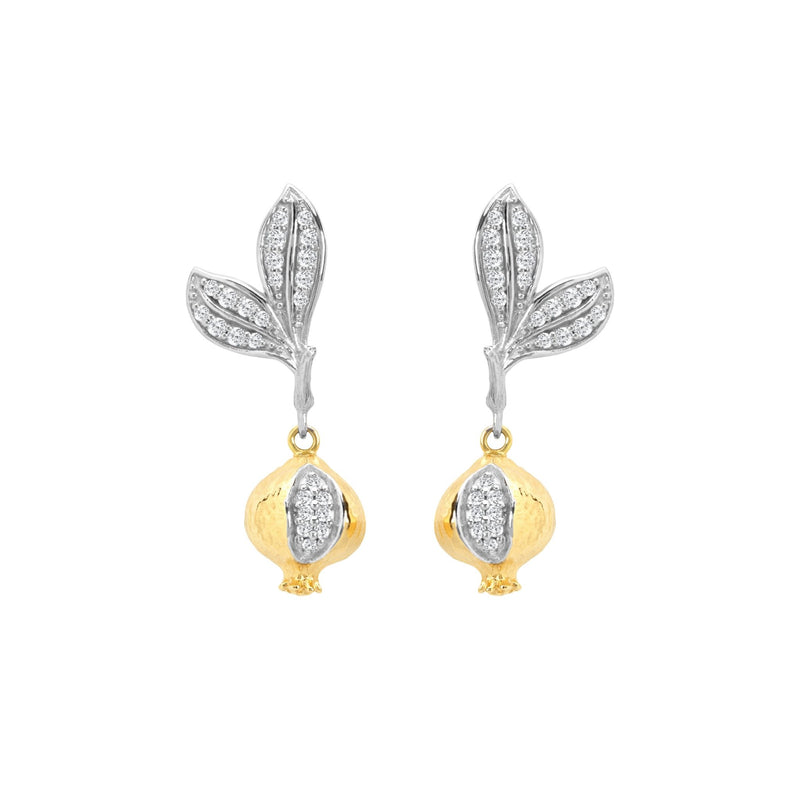 Michael Aram Pomegranate Earrings with Diamonds