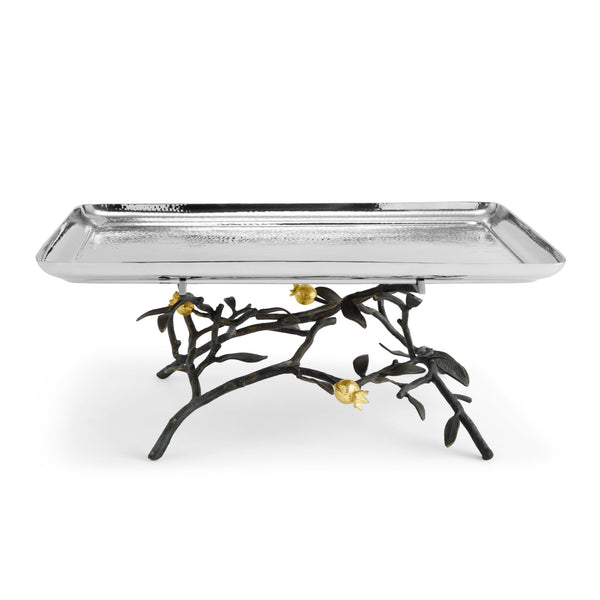 Michael Aram Pomegranate Large Footed Centerpiece Tray