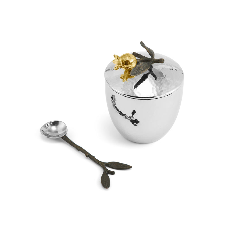 Michael Aram Pomegranate Sugar Pot w/ Spoon