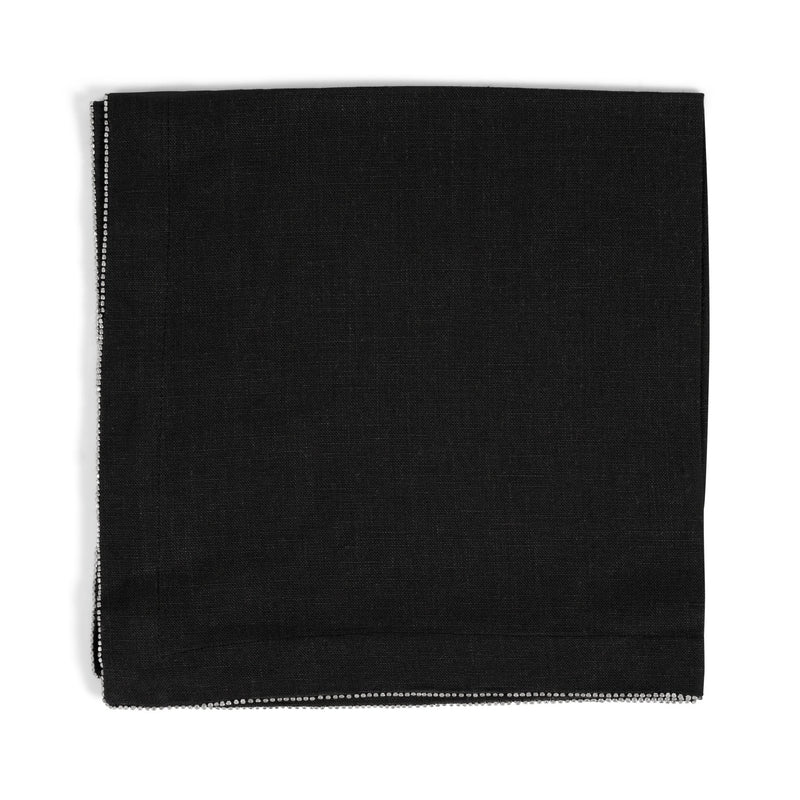 Michael Aram Silver Beaded Dinner Napkin Charcoal