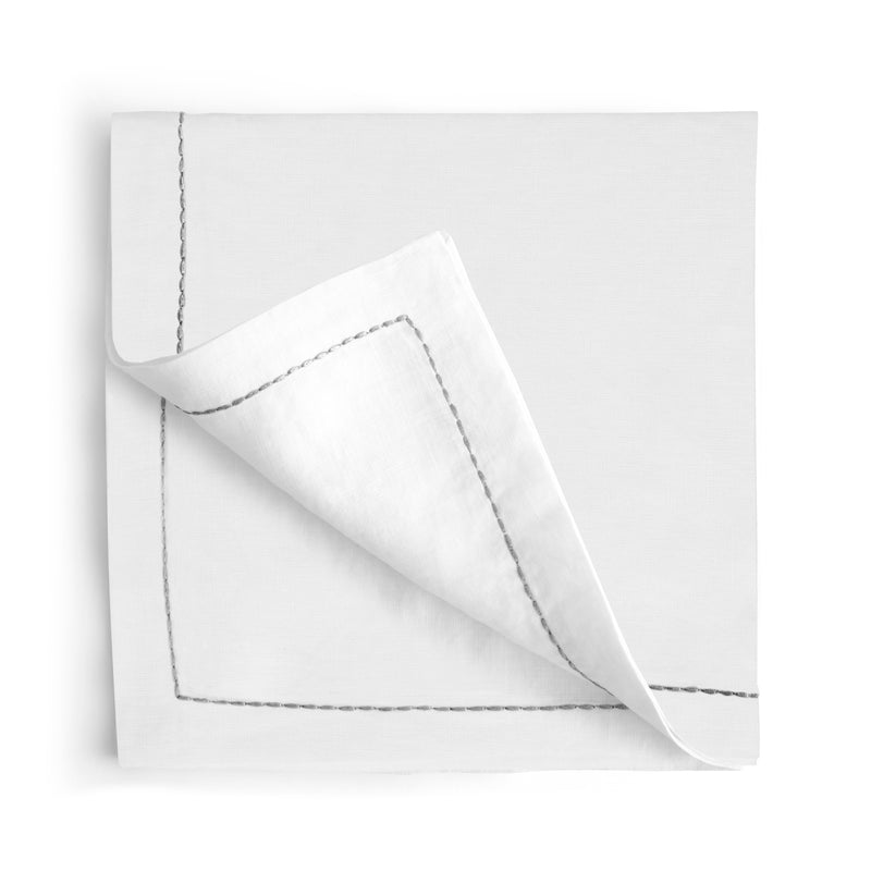 Michael Aram Silver Thread Saddlestitch Dinner Napkin