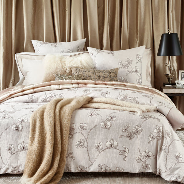 Michael Aram Textured Silk Quilt - Blush