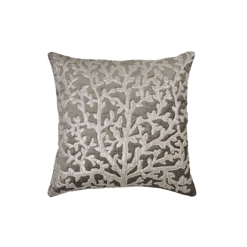 Michael Aram Tree of Life Applique Pillow - Pearl Gray / Silver