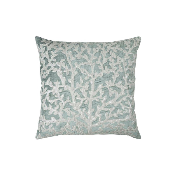 Michael Aram Tree of Life Applique Pillow - Seafoam / Silver