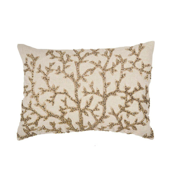 Michael Aram Tree of Life Beaded Pillow - Antique Gold
