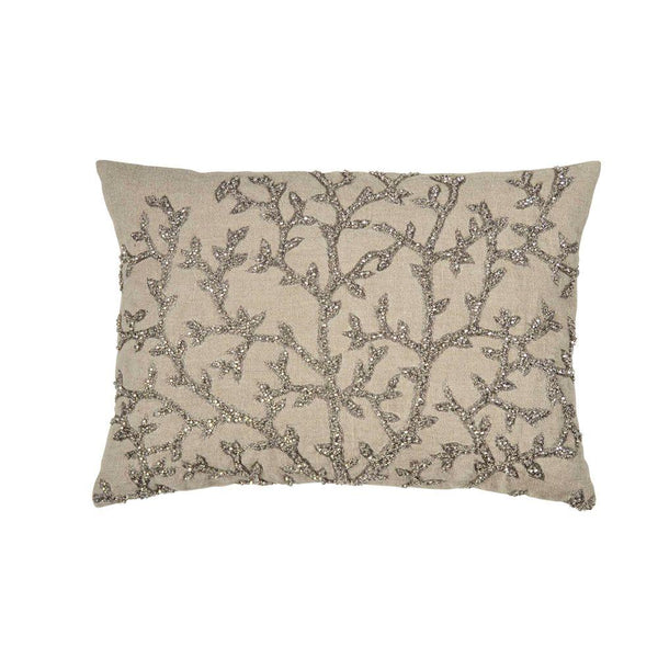 Michael Aram Tree of Life Beaded Pillow - Antique Silver