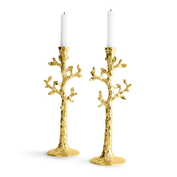 Michael Aram Tree of Life Candleholders Gold