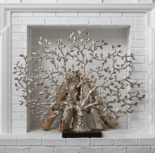 Michael Aram Tree of Life Decorative Fireplace Screen Nickelplate