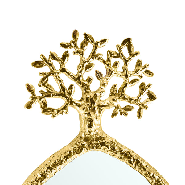 Michael Aram Tree of Life Mirror - Antique Goldtone