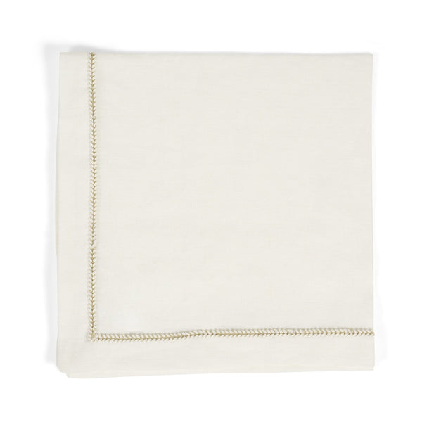 Michael Aram Twist Trim Dinner Napkin Eggshell