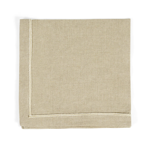 Michael Aram Twist Trim Dinner Napkin Natural