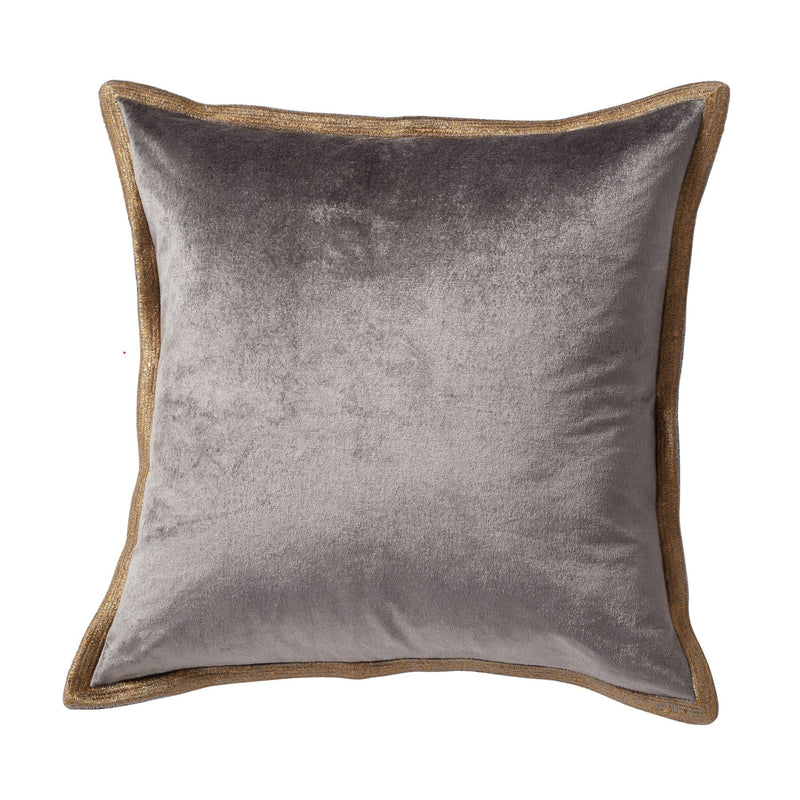 Michael Aram Velvet Metallic Stitch Decorative Pillow - Grey
