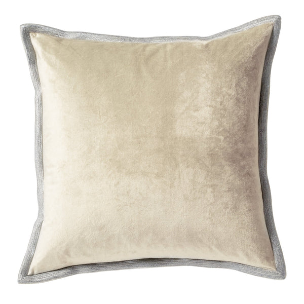 Michael Aram Velvet Metallic Stitch Decorative Pillow - Linen