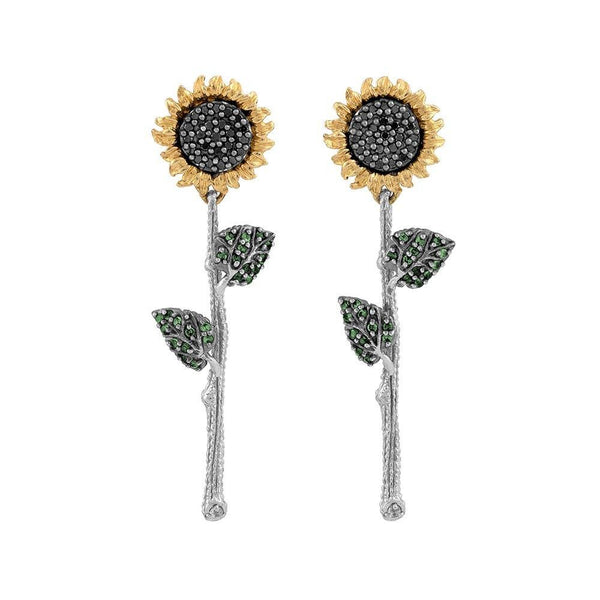 Michael Aram Vincent Earrings with Diamonds and Tsavorite