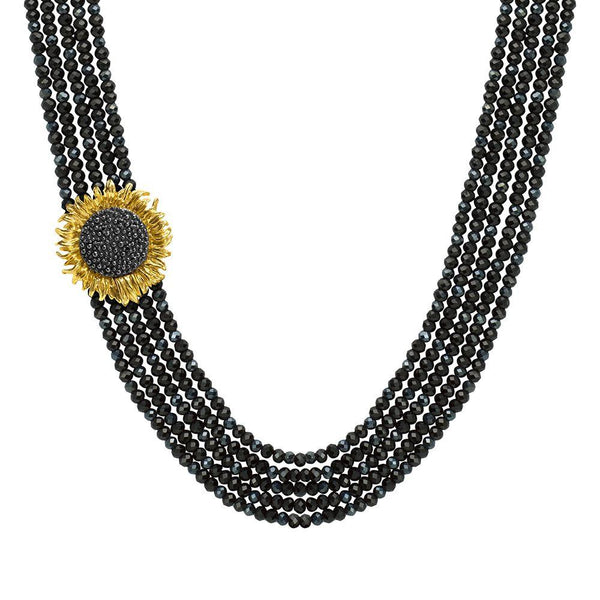 Michael Aram Vincent Multi Strand Necklace with Onyx, Spinel and Diamonds