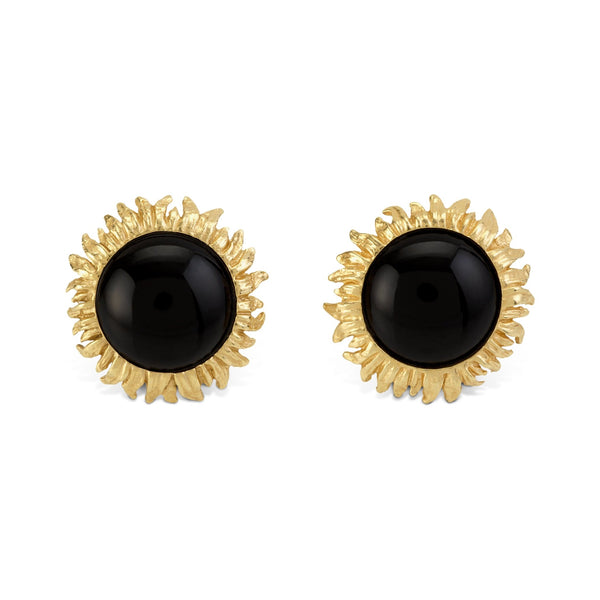 Michael Aram Vincent Onyx Earrings in 18K
