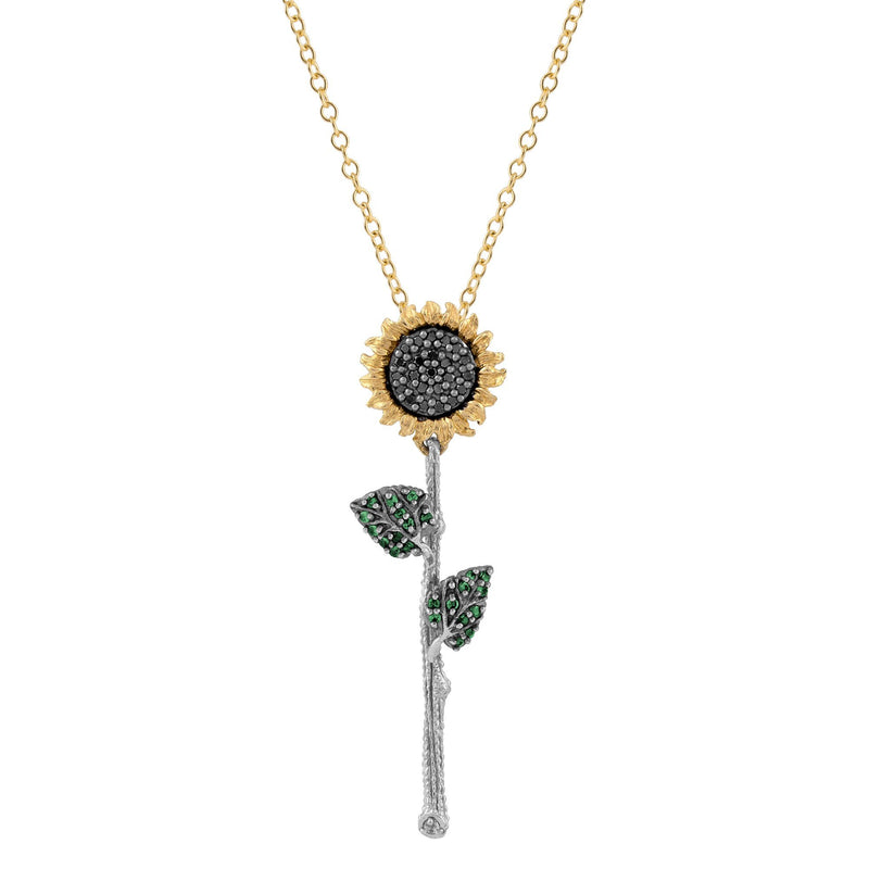 Michael Aram Vincent Pendant Necklace with Diamonds and Tsavorite