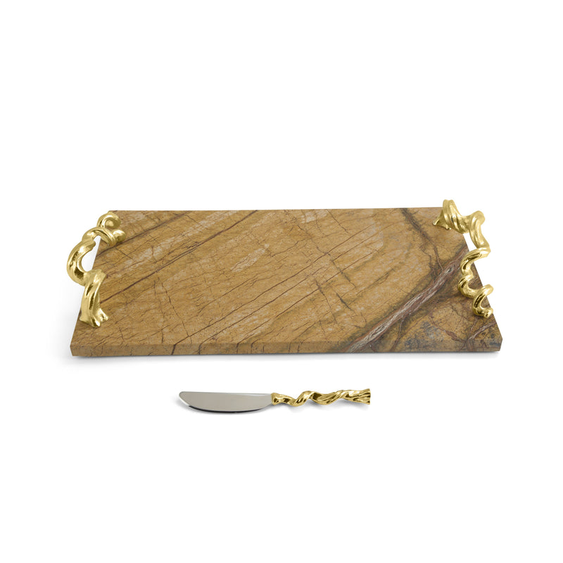 Michael Aram Vine Extra Large Cheese Board with Knife