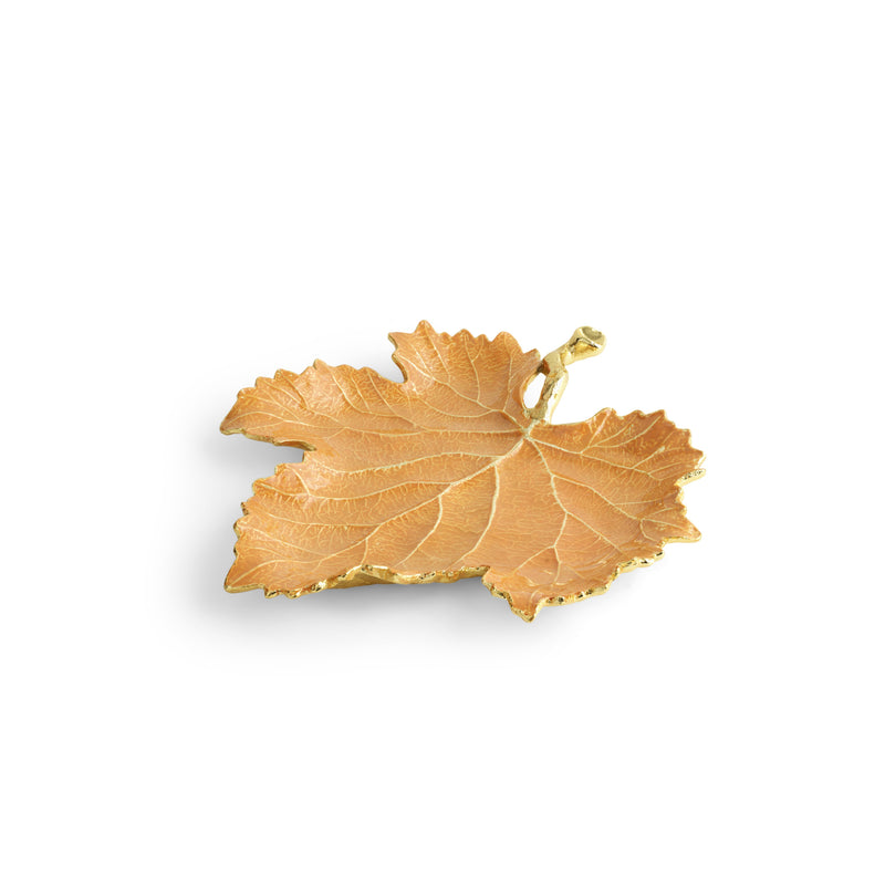Michael Aram Vine Orange Grape Leaf Dish