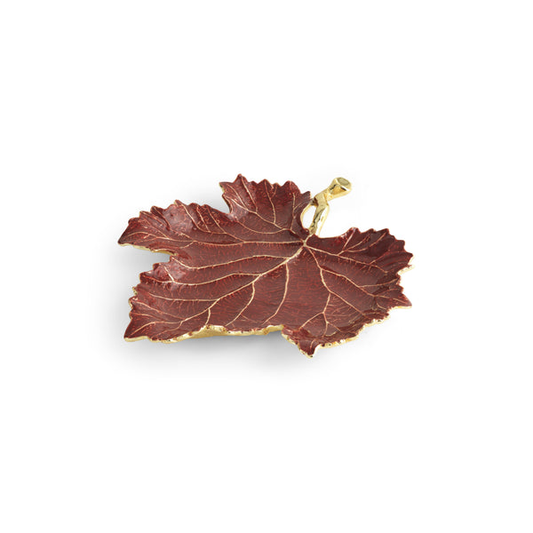 Michael Aram Vine Red Grape Leaf Dish