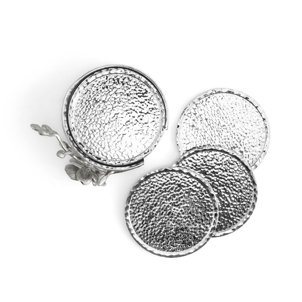 Michael Aram White Orchid Drink Coaster Set