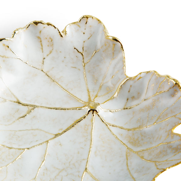Michael Aram Winter Leaves Geranium Dish
