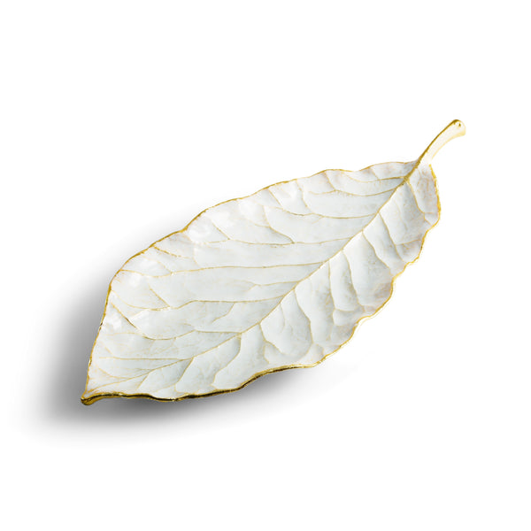 Michael Aram Winter Leaves Magnolia Dish