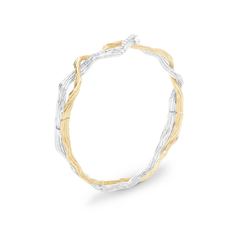 Michael Aram Wisteria Bracelet in Sterling Silver & 18K with Diamonds