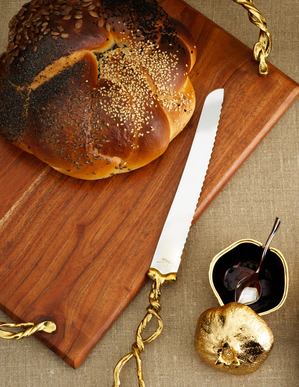 Michael Aram Wisteria Gold Bread Board