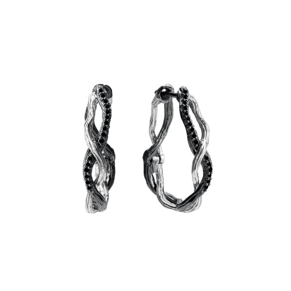 Michael Aram Wisteria Hoops with Diamonds