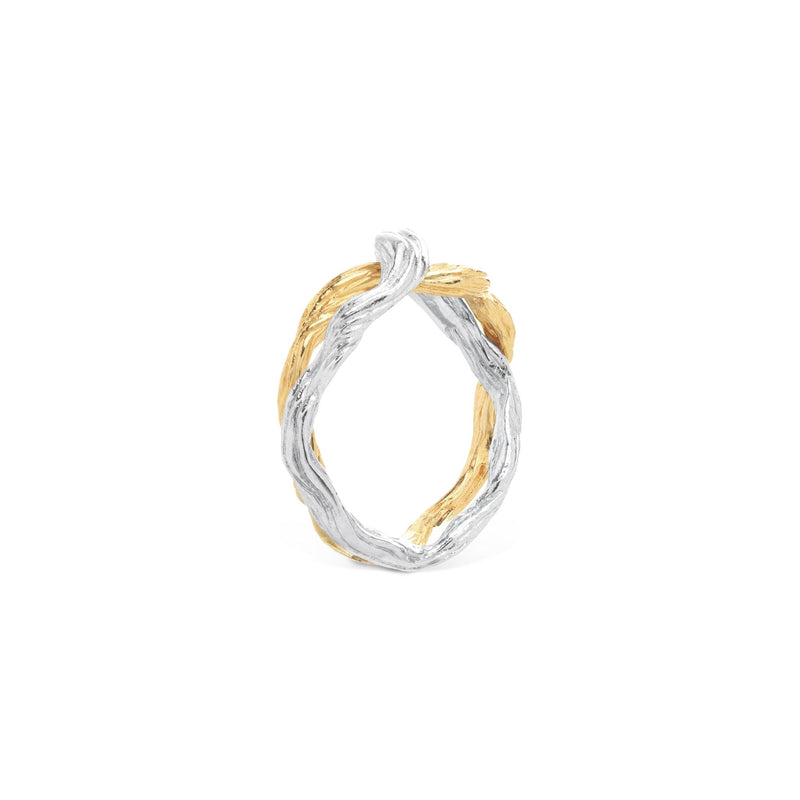 Michael Aram Wisteria Male Ring in Sterling Silver & 18K
